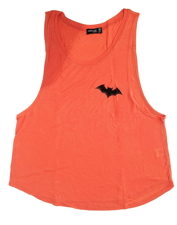 KhanomakレディースノースリーブシャツタンクトップグラフィックTシャツの B01M3S50A9 Small Bat Pocket