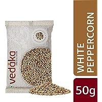 Amazon Brand - Vedaka White Peppercorn (Safed Mirch), 50g