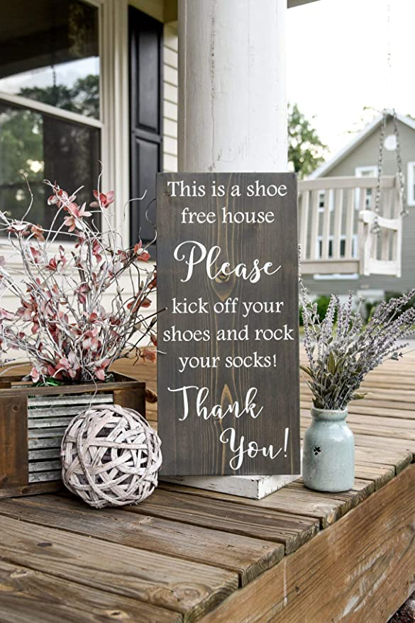 Rock your socks wood sign  I   No shoes  I  front door  I   re FREE SHIPPING!!
