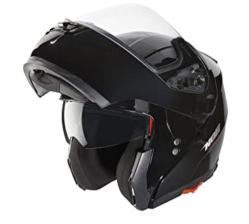 NOX Casco Modular N964, Negro Brillante, L