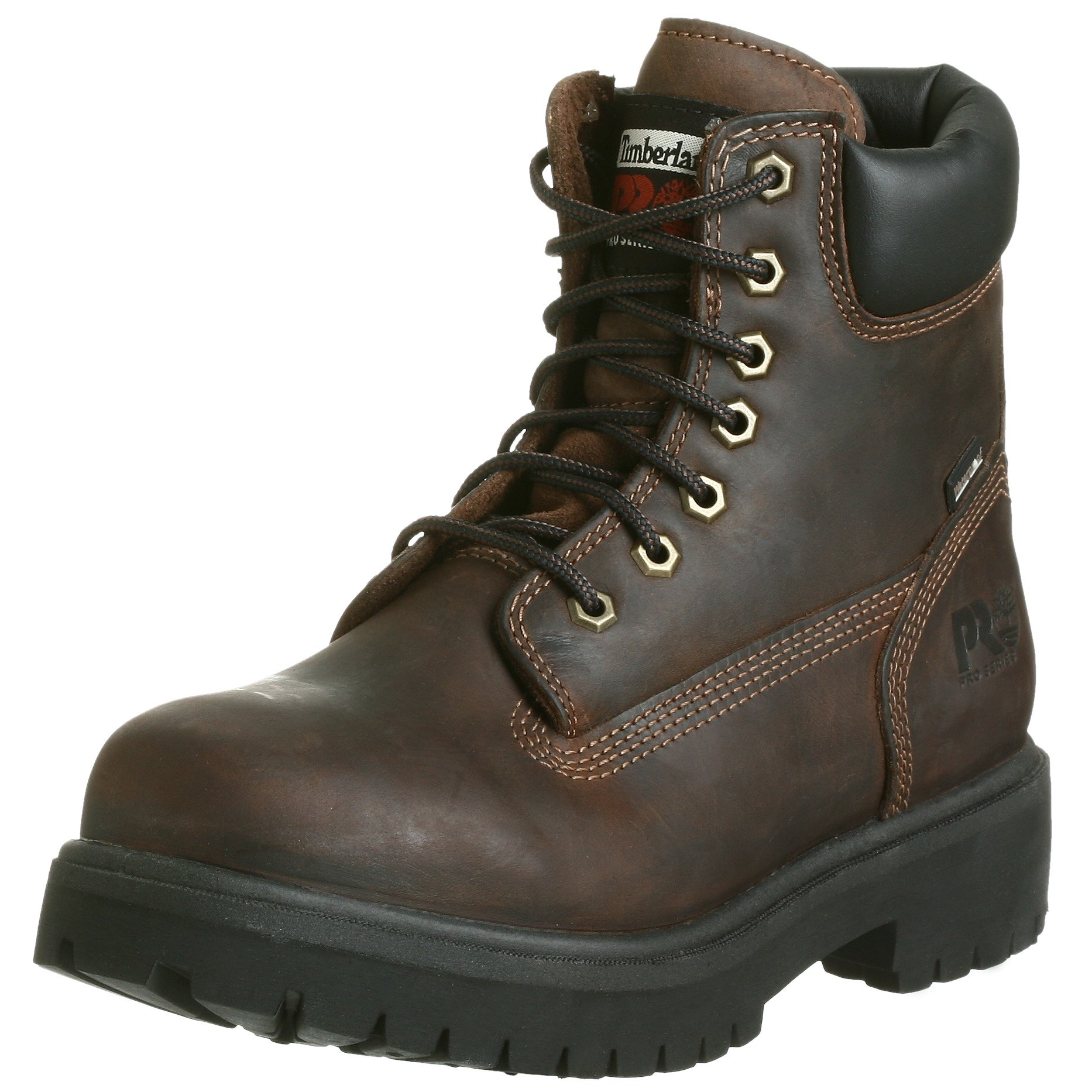 Timberland PRO Men's Direct Attach Six-Inch Soft-Toe Boot, Brown Oiled Full-Grain,12 W