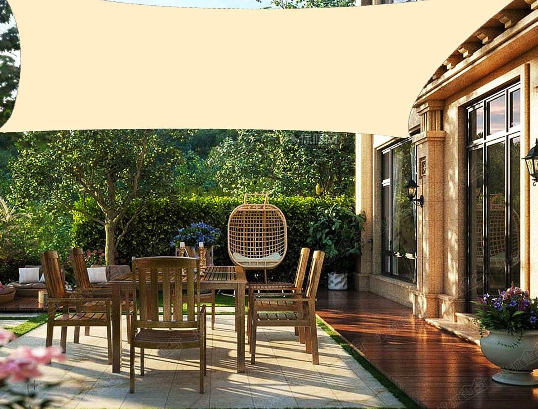 HENG FENG Toldo Vela de Sombra PES Rectangular 2 x 3 m Protección Rayos UV Impermeable Resistente a la Intemperie para Patio Exteriores Jardín Color ...