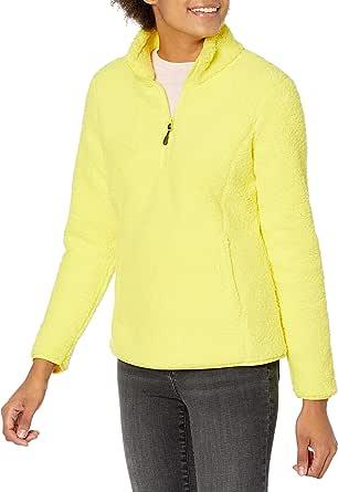 Amazon Essentials Women's Polar Fleece Lined Sherpa Quarter-Zip Jacket