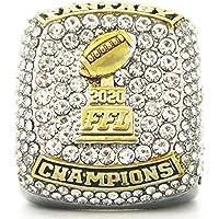 KVCH Fantasy Football Championship Ring Super Bowl Ringen, replica Ring Fans Collector Gift 14 Jaar Oud met een Box 8