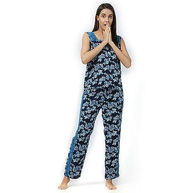 cc7957920d Delicate Lace Top Pajama Set Viscose Sleepwear Nightwear Casual Women Ladies  Navy Blue J262C at Amazon Women s Clothing store