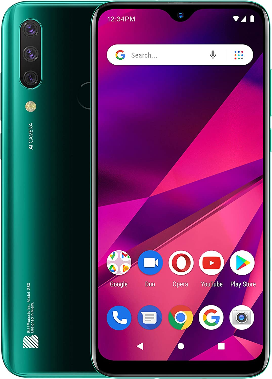 BLU G80 | 2021| All day battery | Unlocked | US version | US warranty | 3/64GB | Green