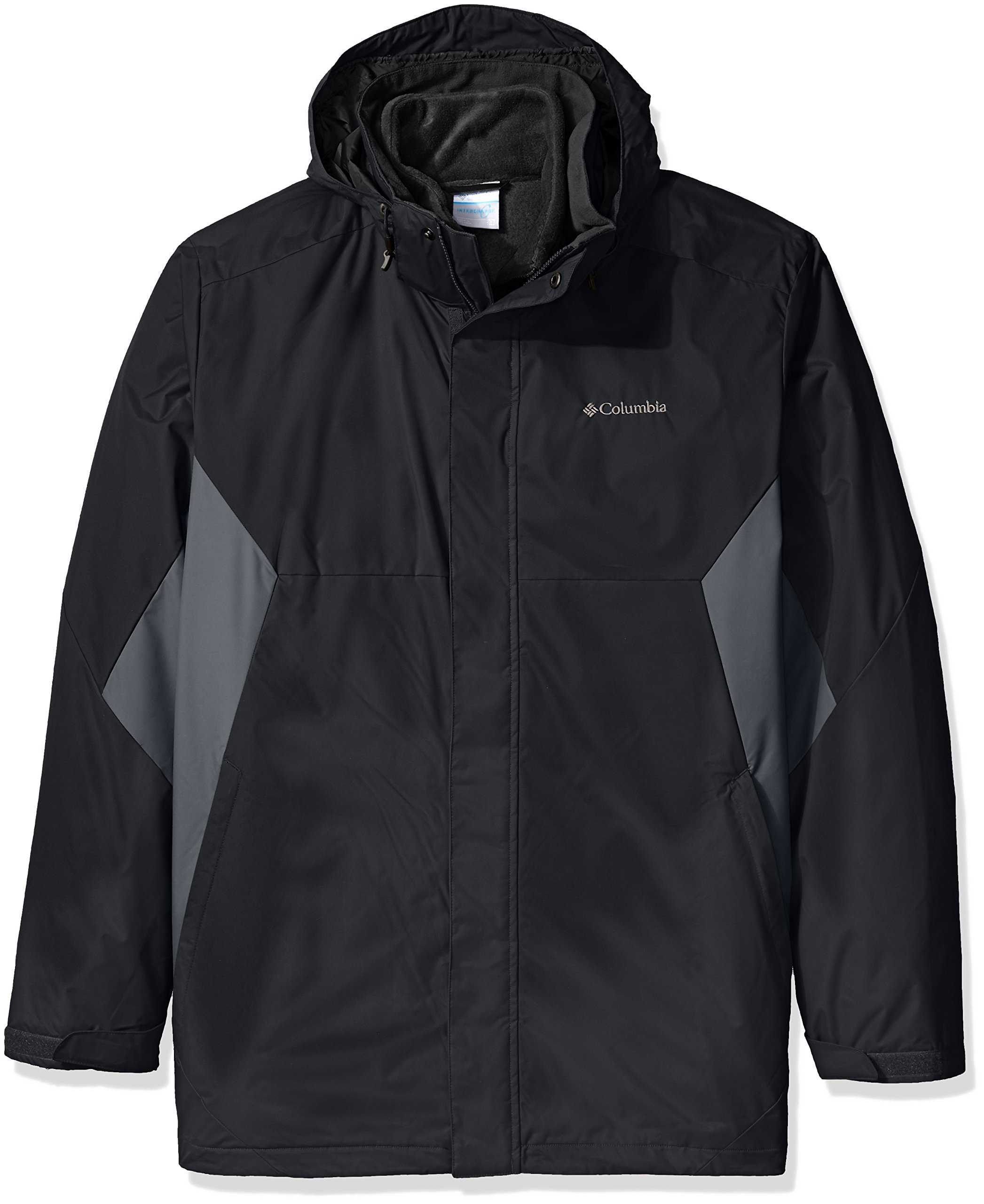 Columbia Men's Big Big & Tall Eager Air Interchange 3-in-1 Jacket, black, Graphite, 3X Tall by Columbia