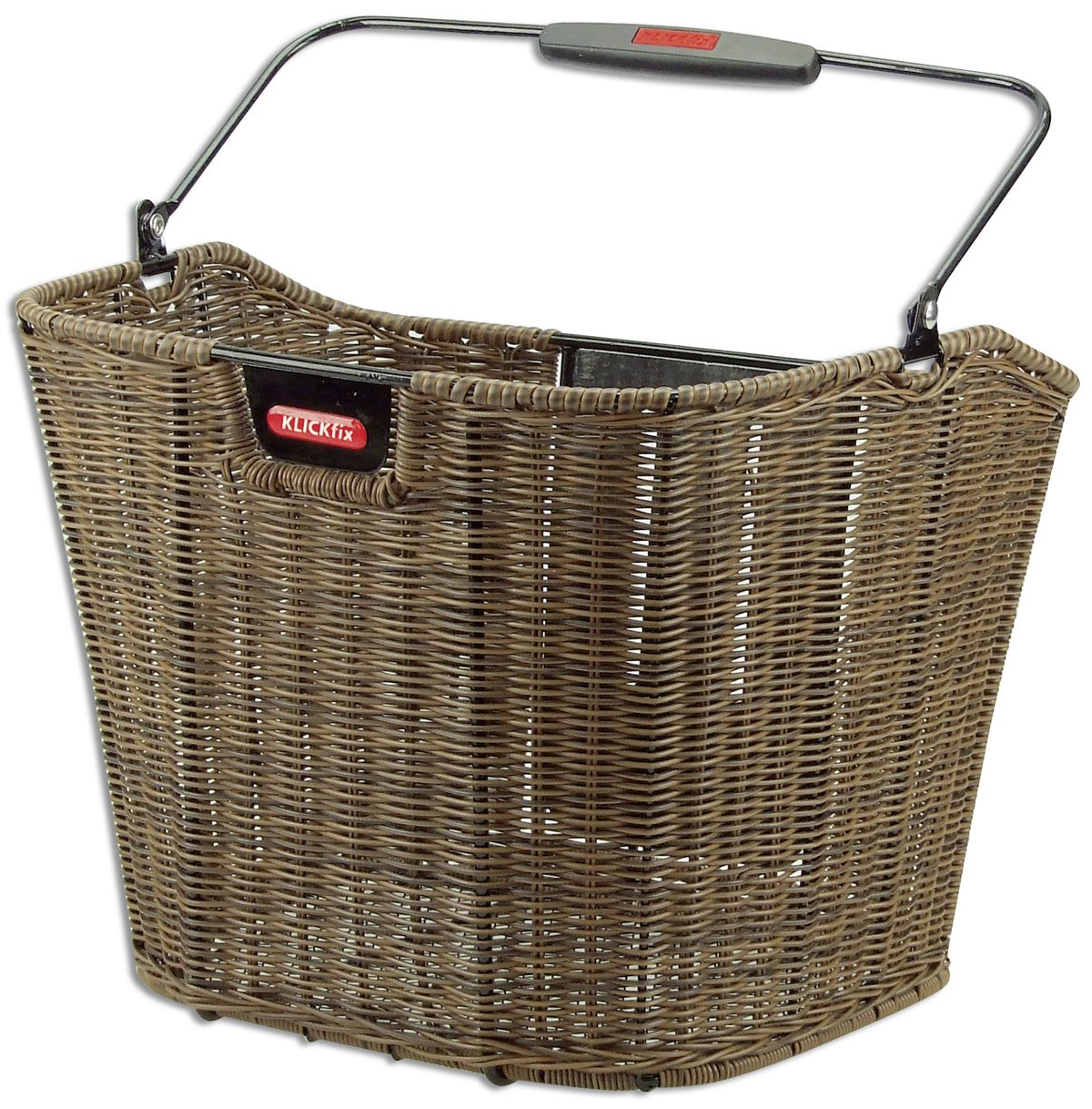 KlickFix Front Handlebar Basket Rixen & Kaul Structura EF basket brown