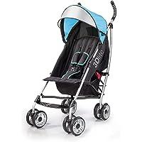 Summer 3Dlite Convenience Stroller, Blue, Lightweight Stroller with Aluminum Frame, Large Seat Area, 4 Position Recline…