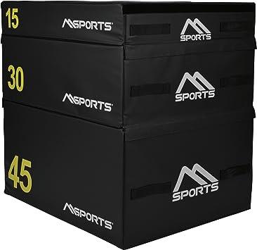 Plyo Box Profesional de 3 piezas | Juego de caja de salto • Caja pliométrica • Caja de salto • Entrenamiento pliométrico: Amazon.es: Deportes y aire libre