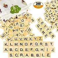 Pinowu Azulejos de letras de madera (200pcs)