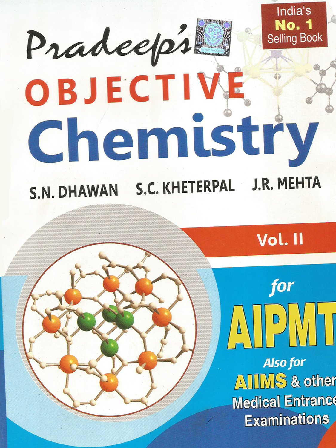 Pradeep s objective chemistry vol i ii for aipmt other medical entrance examination amazon in books