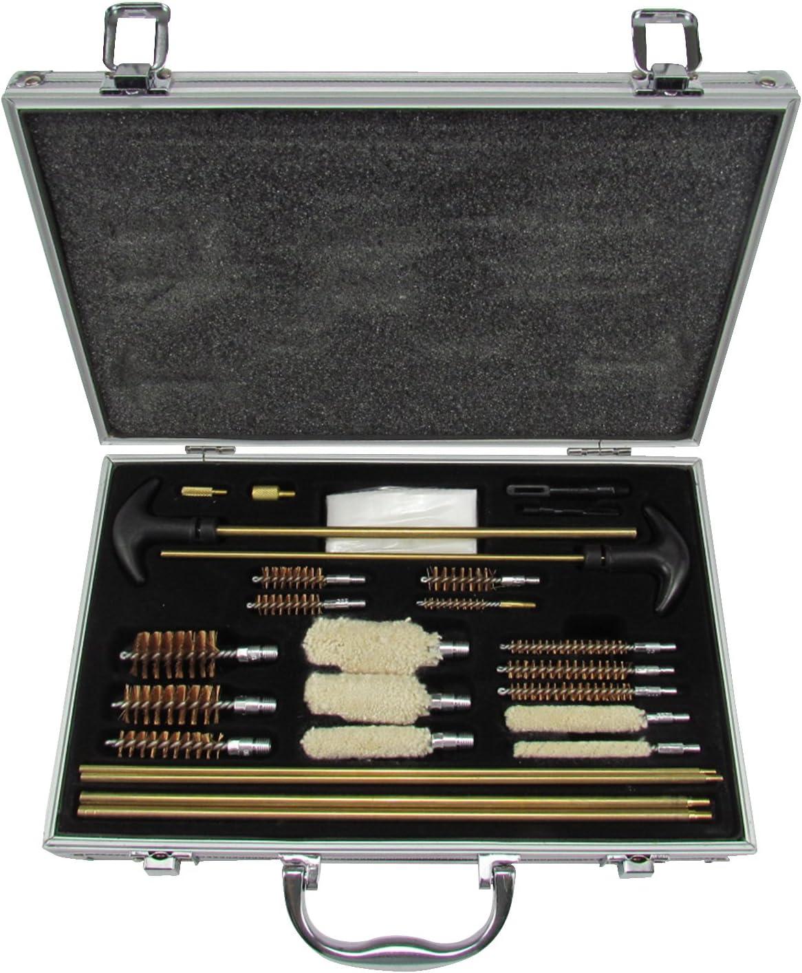 Kit de limpieza universal Tourbon, de aluminio, para pistolas, escopetas y rifles