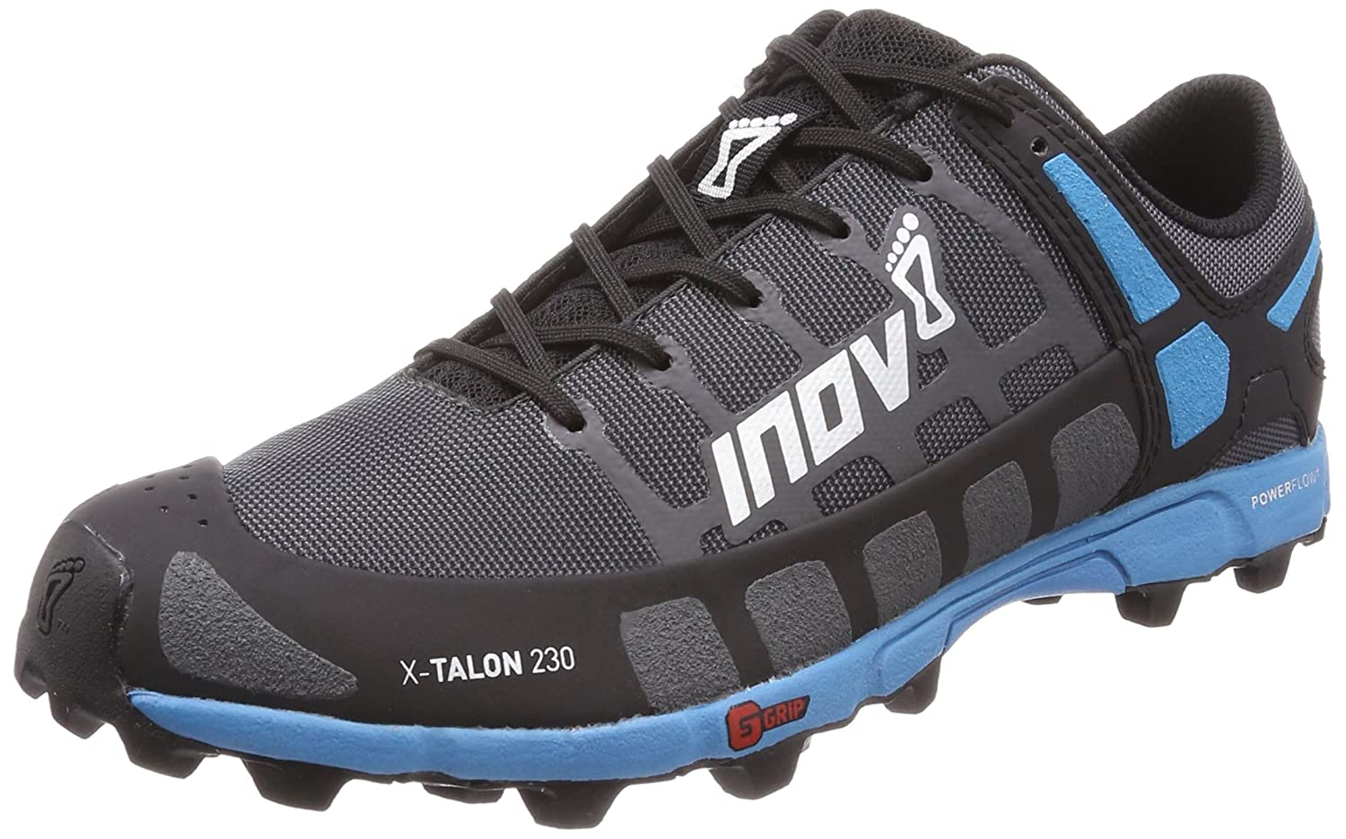 Grey bluee Inov-8 Mens X-Talon 230 Trail Running shoes