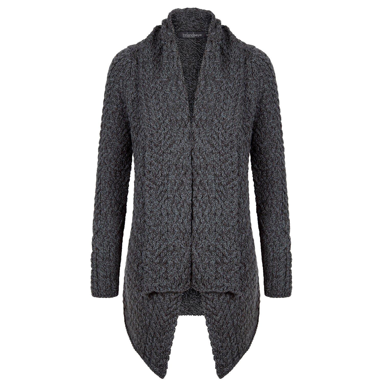 Ladies 100% Irish Merino Wool Aran Glenross Waterfall Sweater by ...