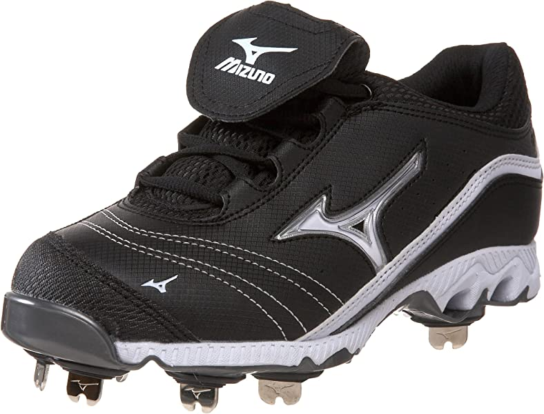 pretty nice f2d2d 5d167 Mizuno Women s 9-Spike Swift G2 Switch Softball Metal Cleat,Black White,