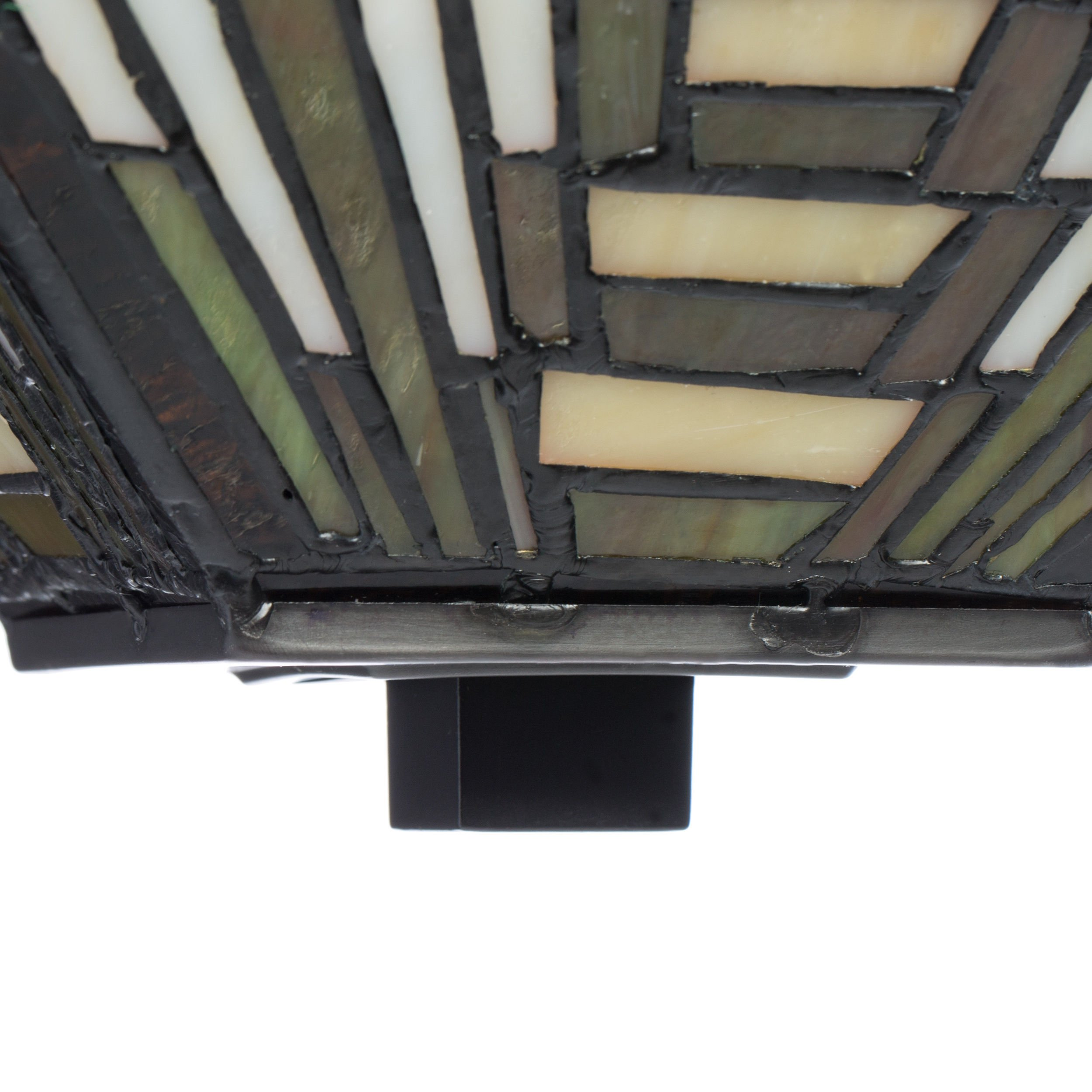 Tiffany-style Frank Lloyd Wright Mission Ceiling Lamp by Warehouse of Tiffany