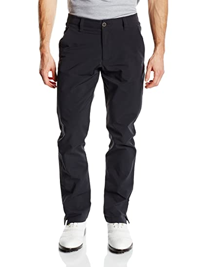 Under Armour Men's Match Play Golf Pants – Tapered Leg, Black/Black, 30