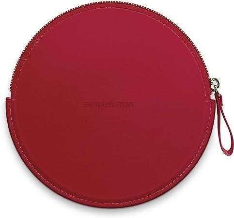 simplehuman, estuche con cremallera para espejo con sensor compacto, rojo: Amazon.es: Hogar