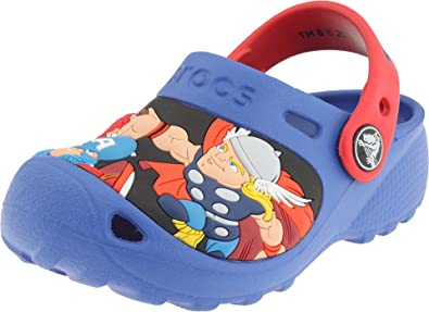 f2e14c923b16b8 Crocs Marvel Super Hero Squad Custom Clog (Toddler Little Kid)
