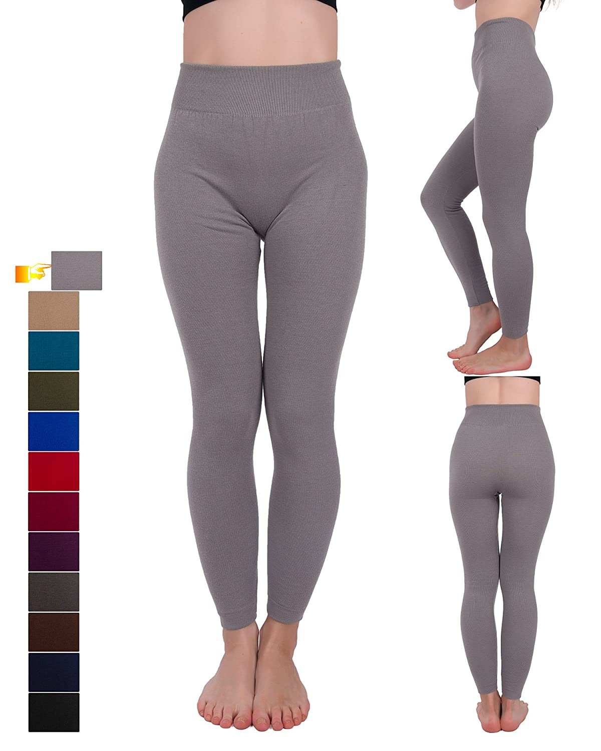 Homma Warm French Terry Sweater Full Length Thermal Leggings FT22