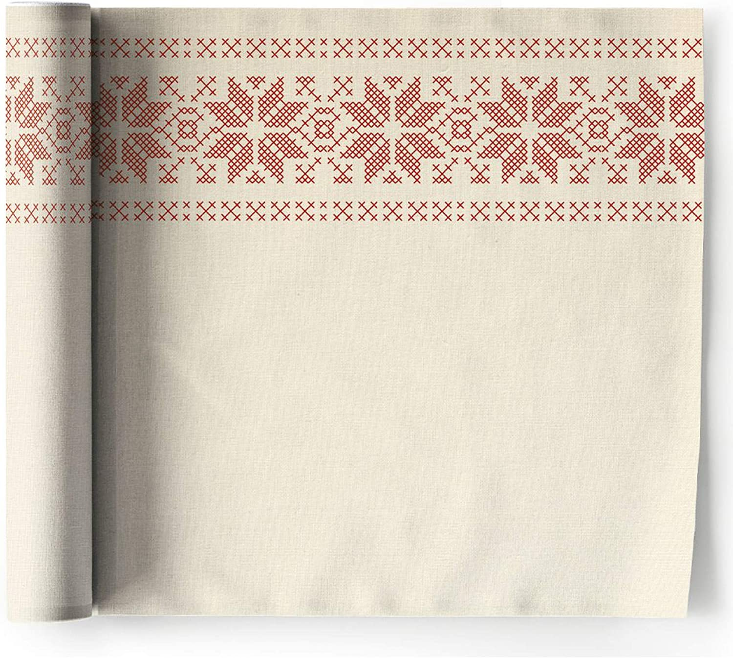 6 per roll Christmas Jumper 12.6 x 12.6 inch MY DRAP Christmas Recycled Cotton Dinner Napkin