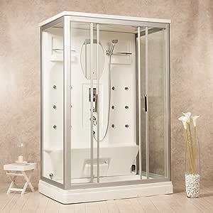 Cabina de ducha hidromasaje Artic 140 x 90 Sauna, Baño Turco y Ozono: Amazon.es: Bricolaje y herramientas