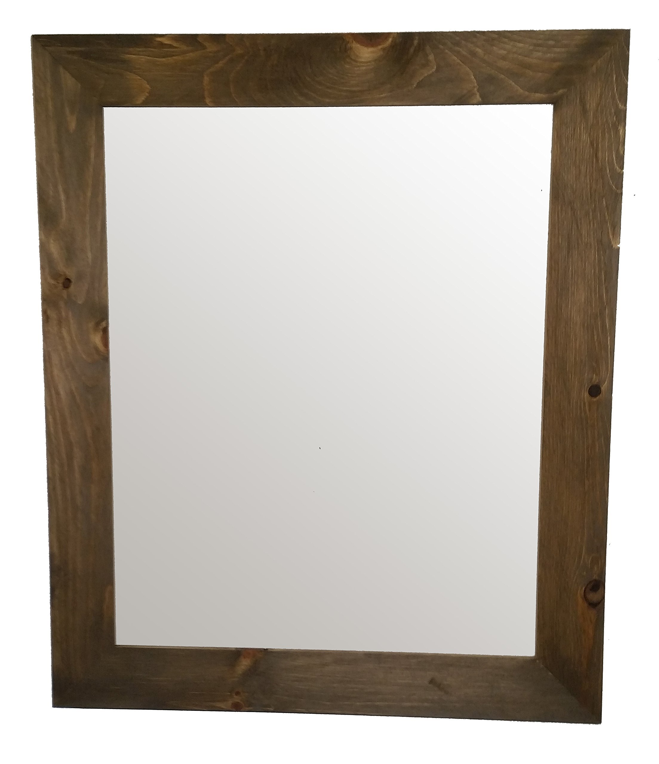 Shiplap Mirror 30 x 36 Vertical Driftwood Stain Reclaimed Wood Mirror - Large Wall Mirror - Rustic Modern Home - Home Decor - Mirror - Housewares - Woodwork - Frame - Stained Mirror by Renewed Décor