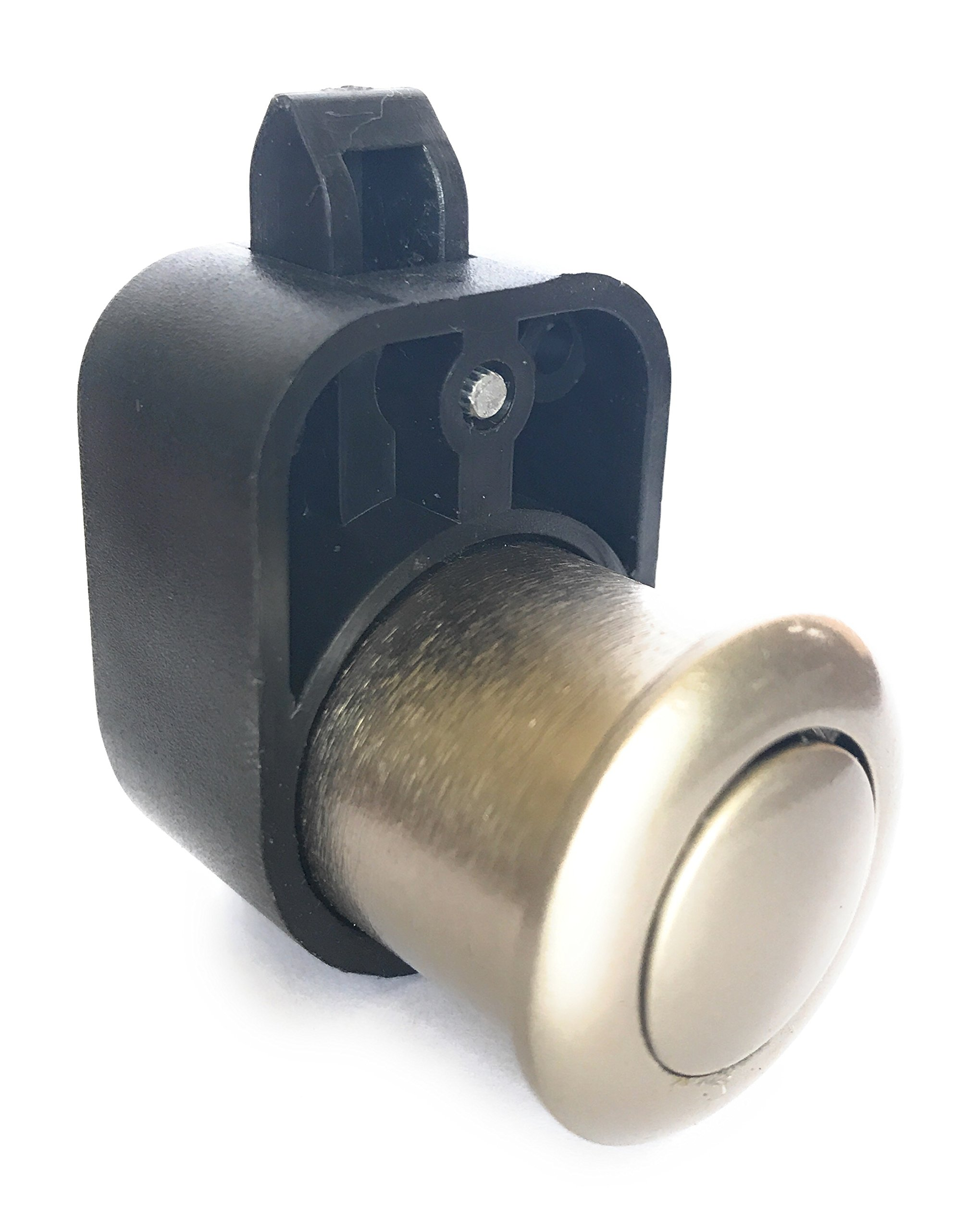 AMT Push Button Latch Lock Cupboard Door Knob Alloy Handle Nickel Plated for RV Campervan Caravan Motorhome Furniture (5)