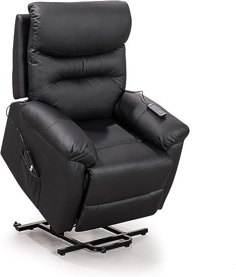 Amazon Com Merax Electric Power Lift Recliner Chair Lazy Boy Sofa For Elderly One Size Black Furniture Decor