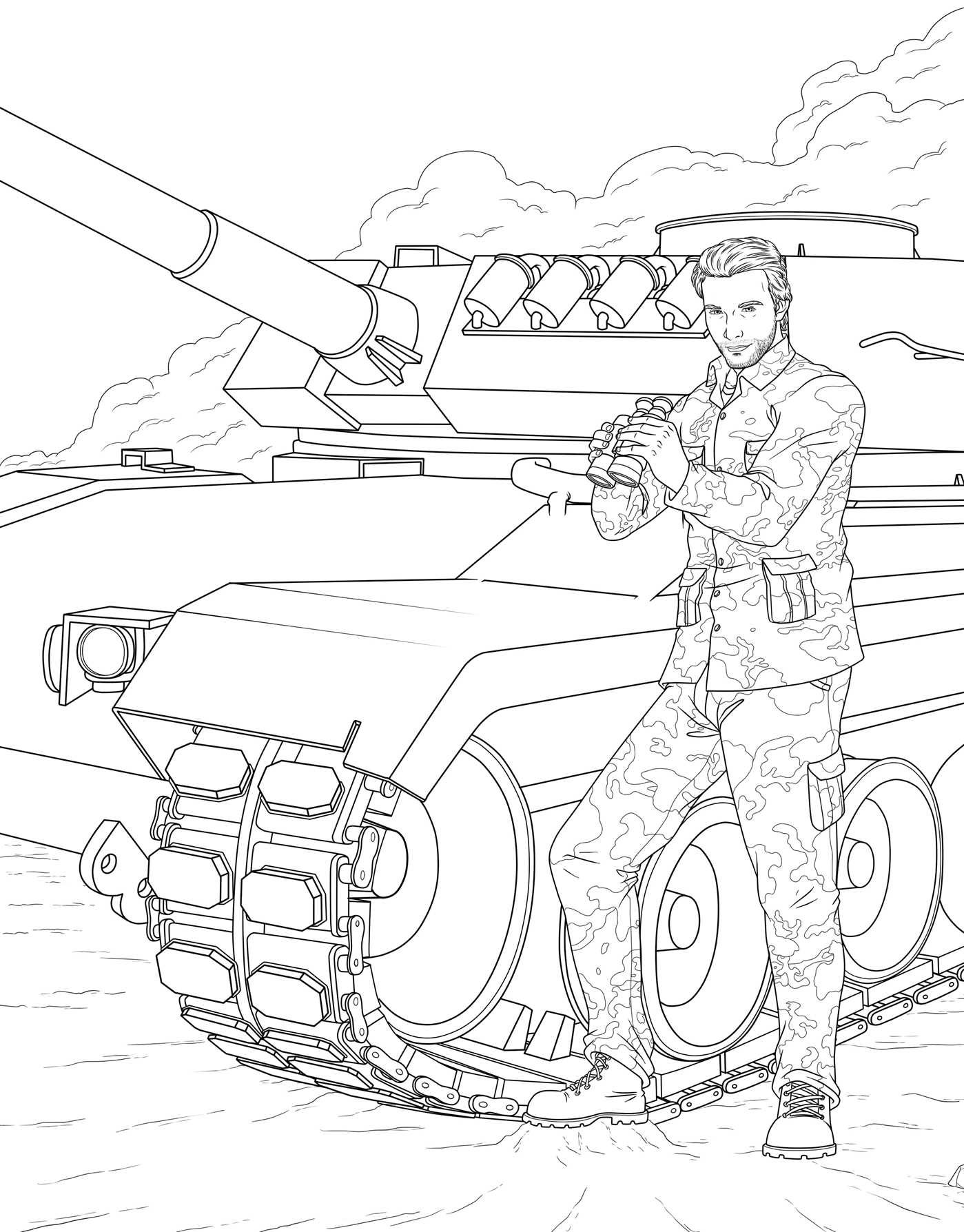 Amazon Com Men In Uniform Adult Coloring Book 9781682611319