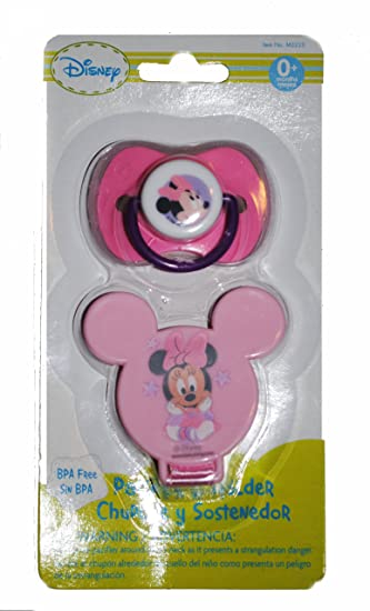 Amazon.com: Disney Minnie Mouse Chupete y titular: Baby