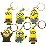 18 Piece High Quality Despicable Me Minions Keychain Keyring Bagcharm Set