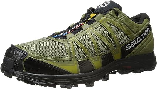 Salomon - Zapatillas para Correr en montaña de Material Sintético para Hombre Verde Verde: Amazon.es: Zapatos y complementos