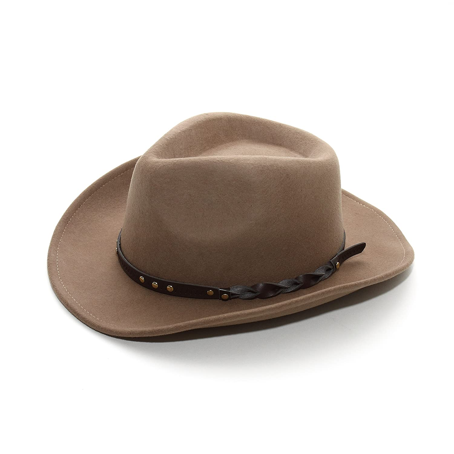 MG Infinity Selections Men's Wool Felt Cowboy Hat-8707