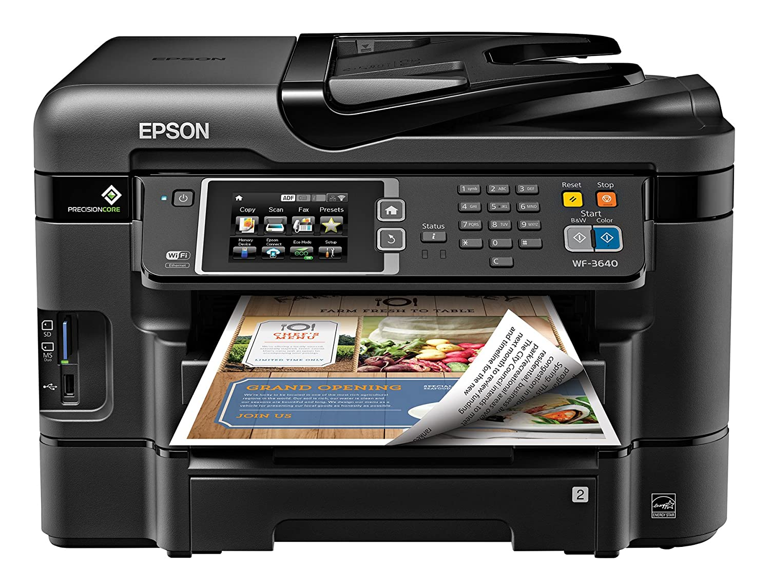 Amazon.com: Epson WorkForce WF-3640 Wireless Color All-in-One Inkjet  Printer with Scanner and Copier, Amazon Dash Replenishment Enabled:  Electronics