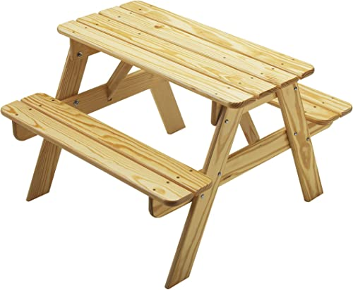 Little Colorado Classic Toddler Picnic Table Easy Assembly Kids Picnic Table/for Indoor and Outdoor Use/Handcrafted