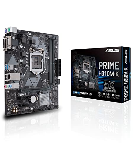 Asus Intel H310 mATX - Placa base, DDR4 2666MHz, SATA 6Gbps ...
