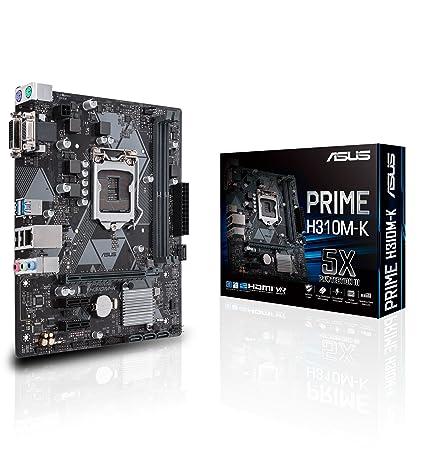 ASUS PRIME H310M-K LGA1151 (300 Series) DDR4 VGA DVI mATX Motherboard Motherboards at amazon