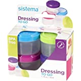 Sistema Dressing Pots To Go Containers - 4 x 35 ml by Sistema