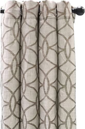 White Dove 54 x 84 Canton Linen Panel Curtain – Faux Linen – Metal Grommets – Infinity Circles – by Unity Brown, 4