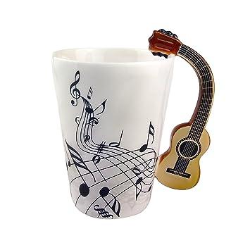 Conception Tasse LaitPour À Thé CéramiquePoignée Musicales Personnalisation Guitare De Créative Ufengke Café Notes Ts Mug vY7gmf6Iby