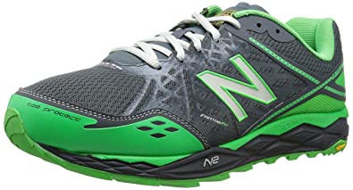 New Balance Men\u0027s MT1210V2 Trail Shoe, Grey/Green, 7.5 4E US
