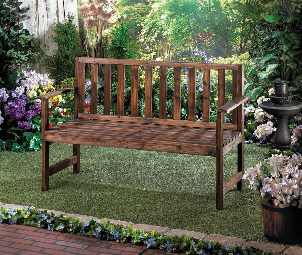 Amazon.com: Simple Garden Grove Bench Fir Wood Yard Garden Patio ...