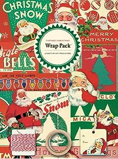 cavallini papers 4 sheet wrap pack vintage christmas - Vintage Christmas Wrapping Paper
