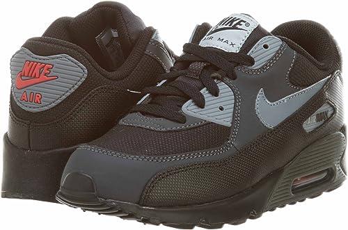 Nike Air max 90 UK 2 / US 2.5Y/ EU 34 Black: Amazon.co.uk: Shoes ...