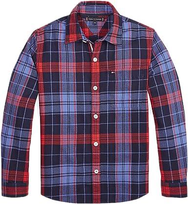 Tommy Hilfiger - Camisa Checked Shirt - Camisa Cuadros BEBÉ ...