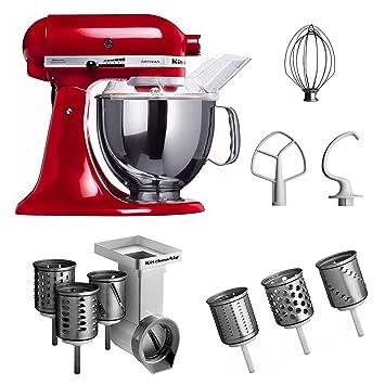 Kitchenaid küchenmaschine artisan rot 5ksm150pseer  Amazon.de: Kitchenaid KSM150PSEER + MVSA + EMVSC Kitchenaid ...