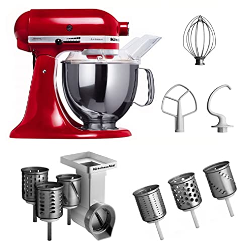 Amazon.de: Kitchenaid KSM150PSEER + MVSA + EMVSC Kitchenaid ...
