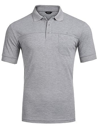 10dcb7a56067fd COOFANDY Men s Fashion Polo Shirts Casual Long Sleeve Pique Polo at ...
